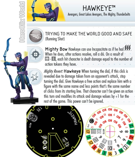 HeroClix Fear Itself Hawkeye dia
