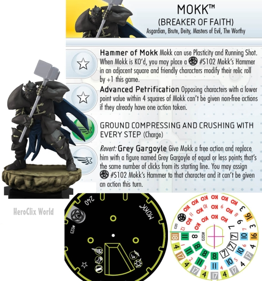 Mokk Fear Itself HeroClix Dial