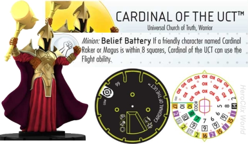 Cardinal of the UTC HeroClix Dial
