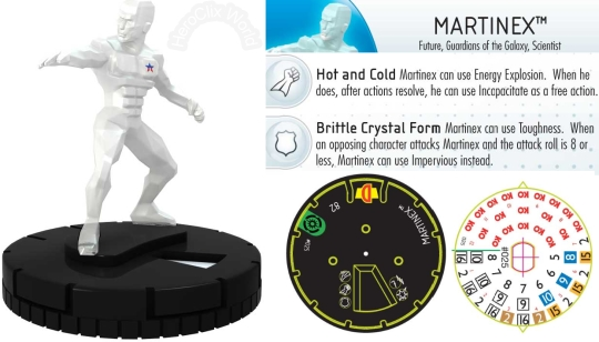 HeroClix Martinex dial Guardians of the Galaxy Spoilers