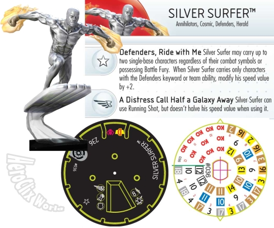 HeroClix Silver Surfer Galactic Guardians
