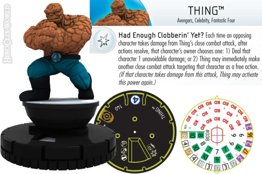 Thing HeroClix Dial Galactic Guardians