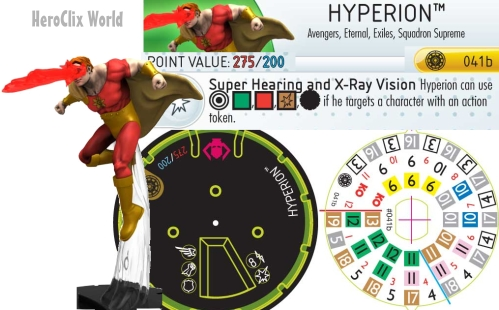 HeroClix Hyperion Dial