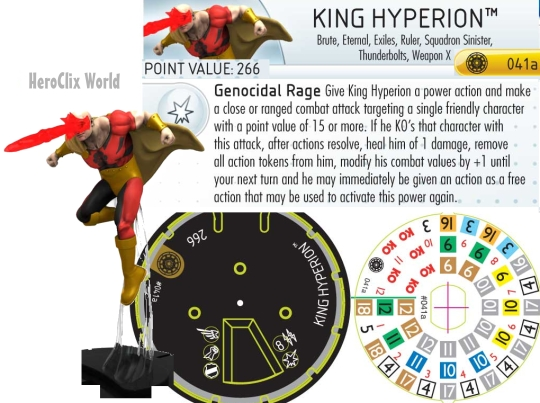 HeroClix King Hyperion Dial
