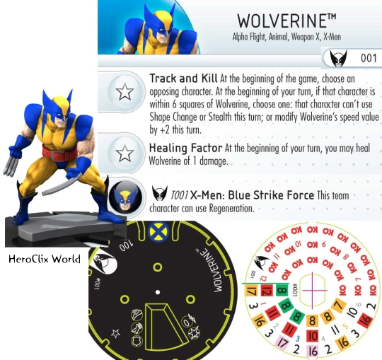 HeroClix Wolverine dial