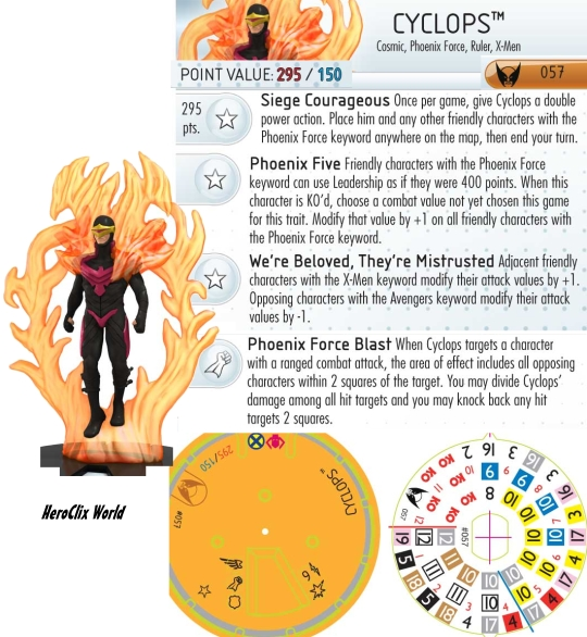 Wolverine and the X-Men Cyclops HeroClix Dial