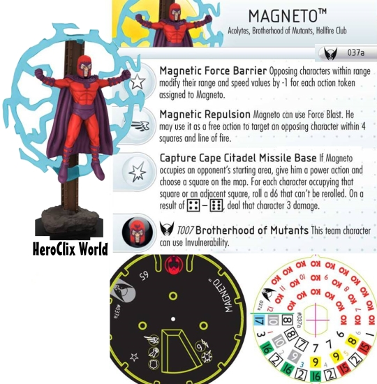 Wolverine and the X-Men Magneto HeroClix Dial