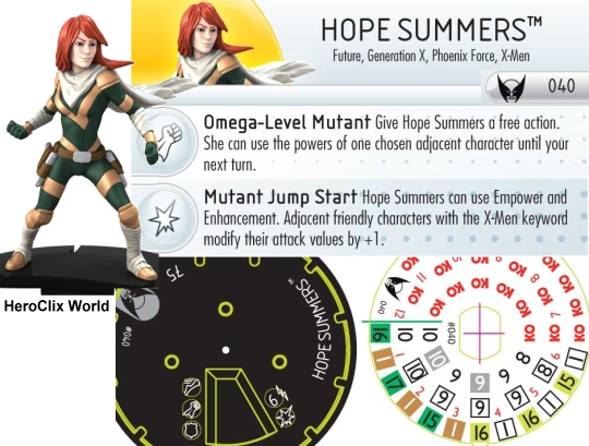 Hope Summers HeroClix Dial
