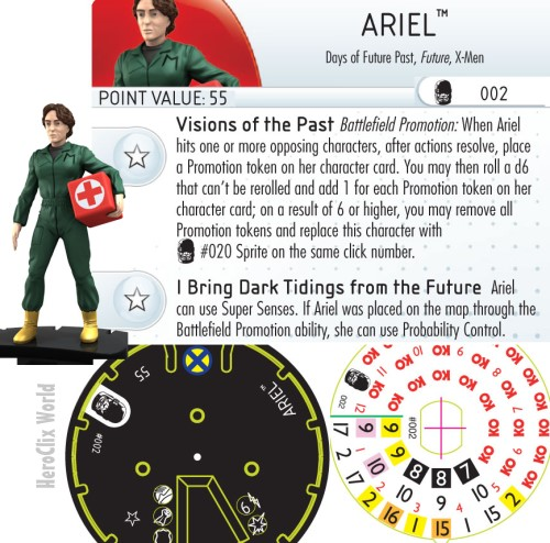 HeroClix ariel Dial Days of Future Past