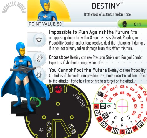 HeroClix Destiny Dial Days of Future Past