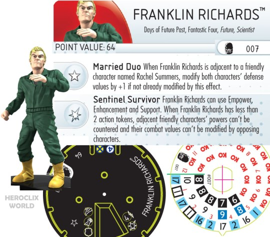 HeroClix Days of Future Past Franklin Richards