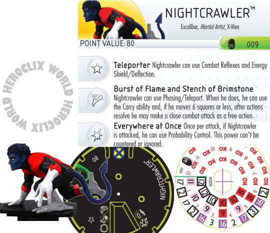 HeroClix nightcrawler Dial Days of Future Past