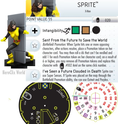 HeroClix spriteDial Days of Future Past