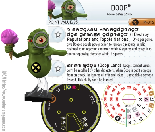 Doop HeroClix Convention Exclusive Dial