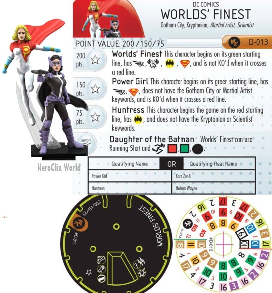 HeroClix World's Finest Convention Exclusive Dial