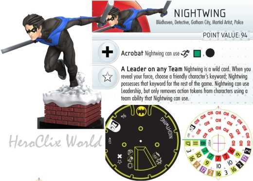 HeroClix Nightwing Dial
