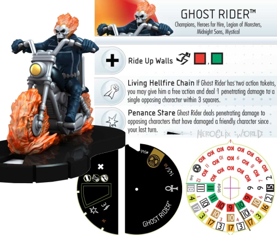 Ghost Rider HeroClix Dial