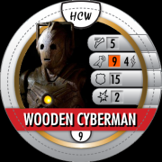 HeroClix World Bystander Wooden Cyberman