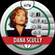 HeroClix Bystander Tokens Dana Scully