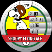 HeroClix Bystander Tokens Snoopy Flying Ace