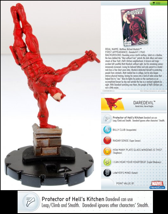 HeroClix World Daredevil Hammer of Thor