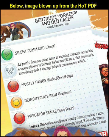 Gertrude and Lace Hammer of Thor HeroClix