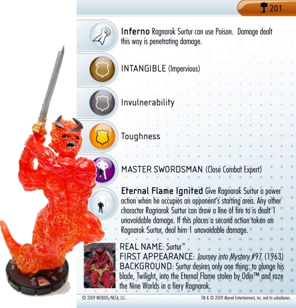 HeroClix World Hammer of Thor Surtur