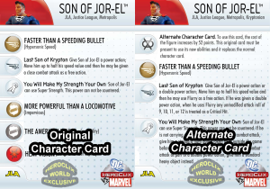 HeroClix Alternate Character Cards Side By Side