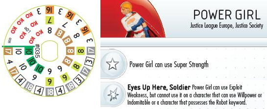 Power Girl HeroClix Dial