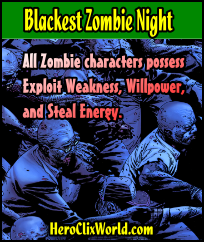 Blacked Zombie Night HeroClix Card